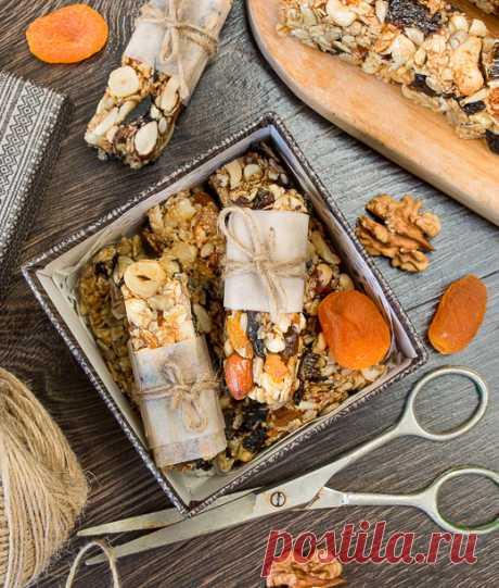 Медовые батончики мюсли с черносливом | Вкусный блог - рецепты под настроение