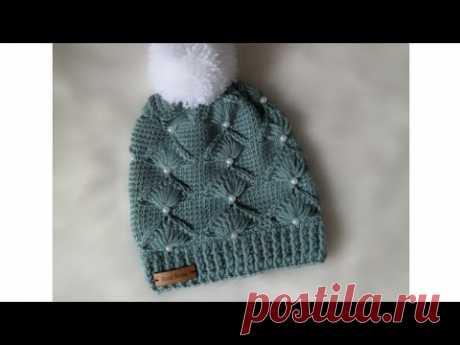 كروشيه طاقيه الاكثر طلبا بغرزة جديده  crochet hat new stitch