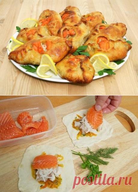 Рыбные расстегаи с семгой и белой рыбой: пошаговый рецепт