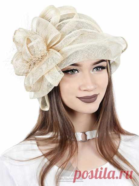 Шляпа Теона - Женские шапки - Из соломки купить по цене 3390 р. с доставкой в Интернет магазине Пильников