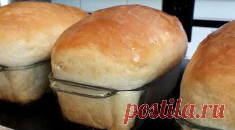 Мягкий, нежный хлеб, как у любимой бабушки!  Намного вкуснее магазинного!  Ингредиенты ✓ 3 стакана теплой воды ✓ 1/4 стакана сахара ✓ 1 1/2 ст.л. дрожжей ✓ 1/3 стакана масла ✓ 1 ст.л. поваренной...