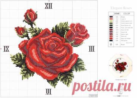 Схемы вышивки цветов / Схемы вышивки крестиком / PassionForum - мастер-классы по рукоделию