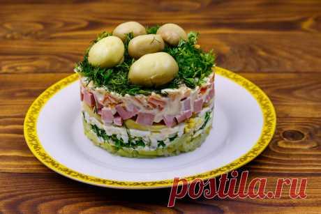 Салат с грибами - удивительно вкусный и эффектный
