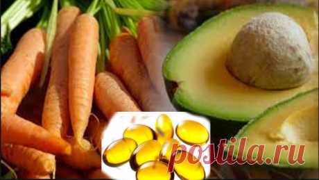 Морковь, авокадо и витамин E в капсуле .. 20 минут спустя произойдет настоящая магия! - Счастливые заметки