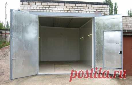 Warming of garage – inexpensive ways of internal thermal insulation