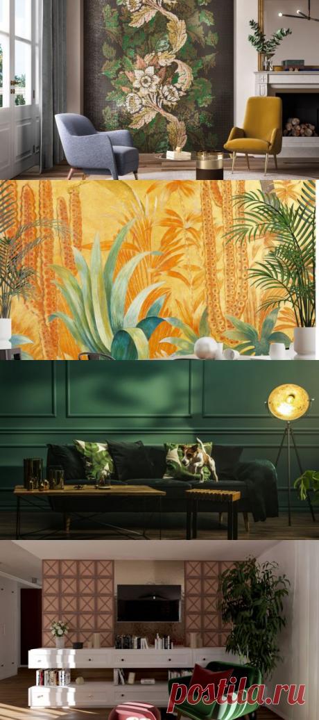 Стены в гостиной - самые модные предложения