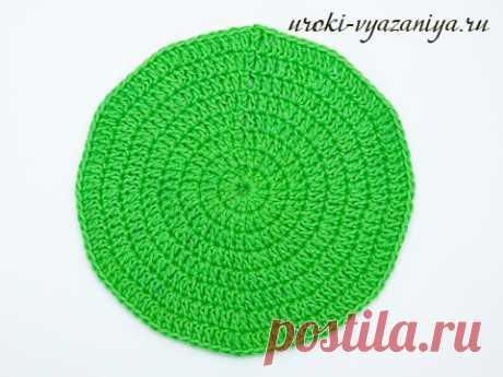 La labor de punto circular, la regla del círculo, el esquema y la técnica de la labor de punto del círculo