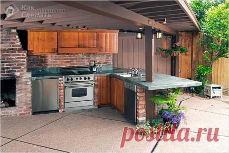 Как построить летнюю кухню своими руками | Строим дом сами