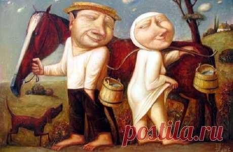 Работы художника Геннадия Шлыкова, которые вызывают добрую улыбку