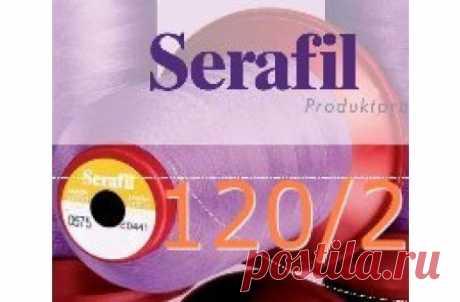 FILO SERAFIL 120/2 - MT 5000 - COL PRONTI SINGOLI FILO AMANN SERAFIL 120/2 - MT 5.000 - CONI DA MT 5.000/CAD Filato semitrasparente per tagliacuci, sorfilature. Serafil, qualita' Eccellente.