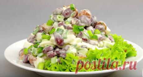 Простой салат с консервированной фасолью | Кухня наизнанку | Яндекс Дзен
