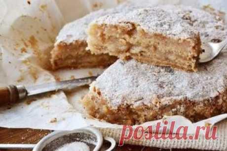 Насыпной яблочный пирог. Самый легкий в приготовлении пирог! Самое сложное в рецепте - натереть яблоки!