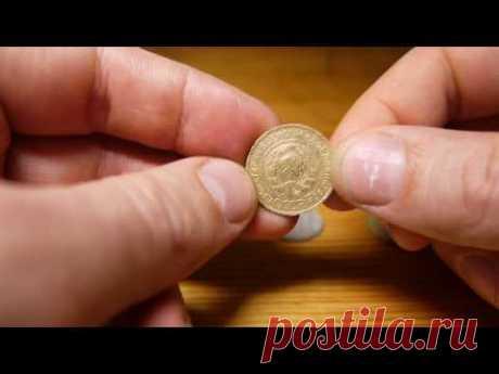 Чистим монеты (бронзу, медно-никелевые)  лучший способ! Отличный результат!