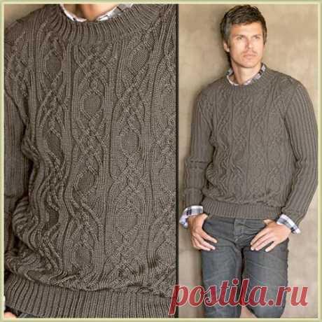 Мужской пуловер из журнала Bergère de France Explications Tricot 2010/2011
