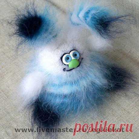 Пухлян Полосатыч - заяц,инопланетянин,пушистый,полосатый,чудо,мохнатый