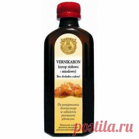 VERNIKABON syrup, honey and herbal 130g sugar, digestive system diseases
