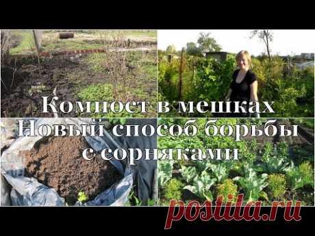 Компост В МЕШКАХ и новый способ БОРЬБЫ с сорняками // Compost in plastic bags