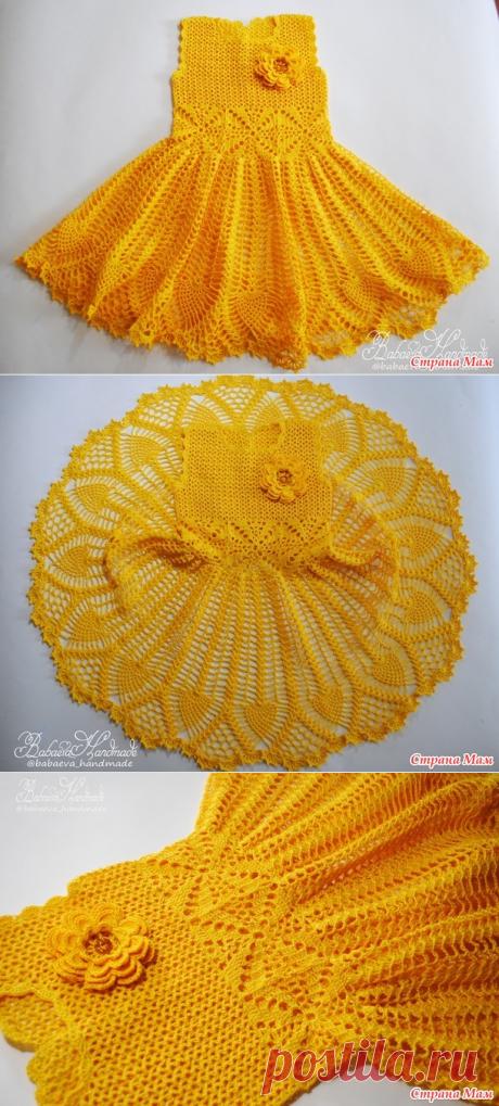 """El vestido para la muchacha """"Весенний цветок"""" de babaeva_handmade"""