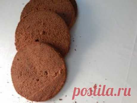 fragrant chocolate biscuit. The recipe with bitter chocolate