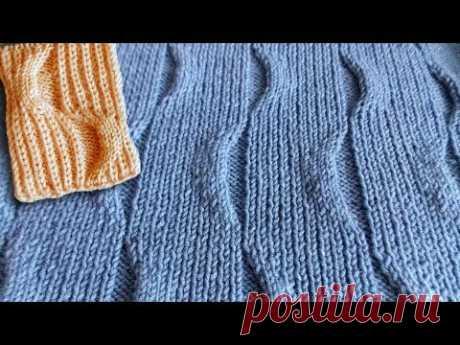 Красивый рельефный узор спицами для пуловеров, свитеров, кардиганов, жилетов. Мастер класс по вашей просьбе. Схема узора: https://vk.com/clubvyagemvse?z=phot...