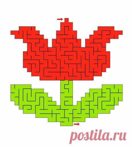Лабиринты / Игра Лабиринт Цветочек: распечатать и пройти лабиринты