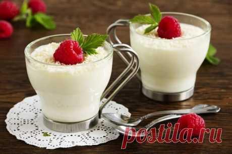 ༺🌸༻Молочный десерт для детей вместо мороженого