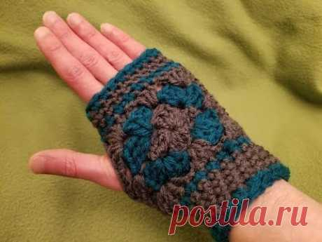 Granny Fingerless Mitts Crochet Tutorial!