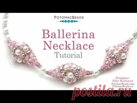 Ballerina Necklace - DIY Jewelry Making Tutorial by PotomacBeads - YouTube