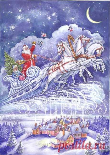 Иллюстрация новый год. Просмотреть иллюстрацию новый год из сообщества русскоязычных художников автора И и А  Чукавины в стилях: Другое, нарисованная техниками: Смешанная техника.