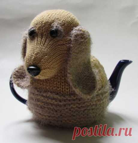 Hot-water bottles on a teapot - animals. Ideas and MK