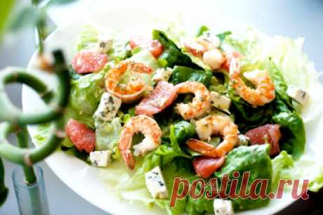 Shrimps salads — simple and tasty recipes for New 2018 — the Taste Factor