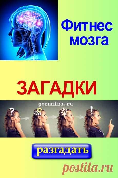 Фитнес мозга. Загадки | ГОРНИЦА
