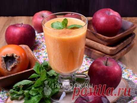 Смузи с хурмой, яблоком и овсяными хлопьями — рецепт с фото Вегетарианский, диетический, полезный и просто очень вкусный смузи с хурмой, яблоком и овсяными хлопьями.