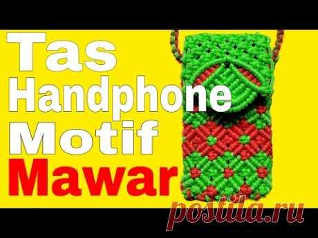 Tas Handphone Motif Mawar #Motifmawar #tasHp #talikurmotifmawar - YouTube ингредиенты, чтобы сделать это довольно легко, вот ингредиенты: -Красная веревка 12 х 200 см -Зеленый шнур 16 х 220 см -магнит