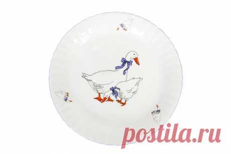 Купить Тарелка Гуси 24 см с доставкой по выгодной цене в интернет магазине Hoff.ru. Характеристики, фото и отзывы.