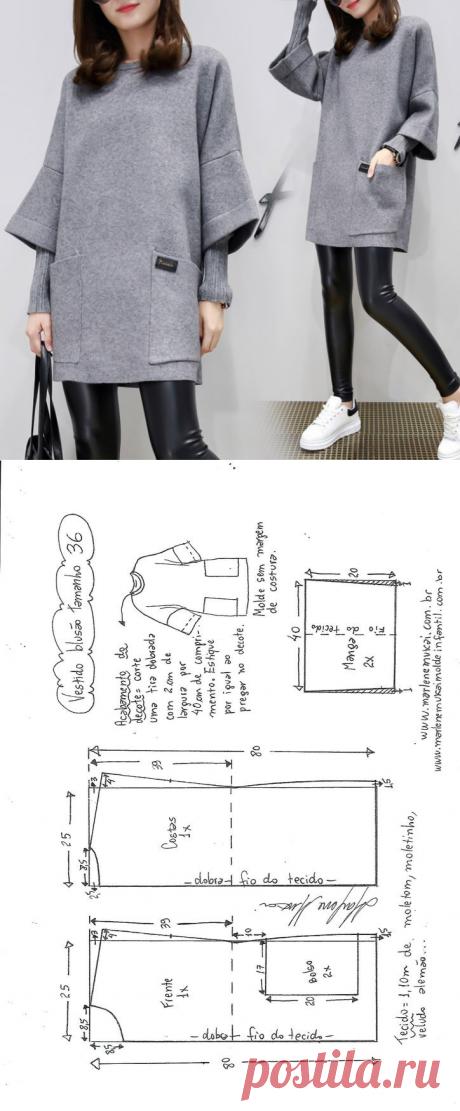 Выкройка делового платья / Простые выкройки / ВТОРАЯ УЛИЦА Размеры с 36 по 56.