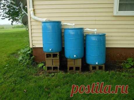 Варианты сбора дождевой воды для хозяйственных нужд — Сделай сам, идеи для творчества - DIY Ideas