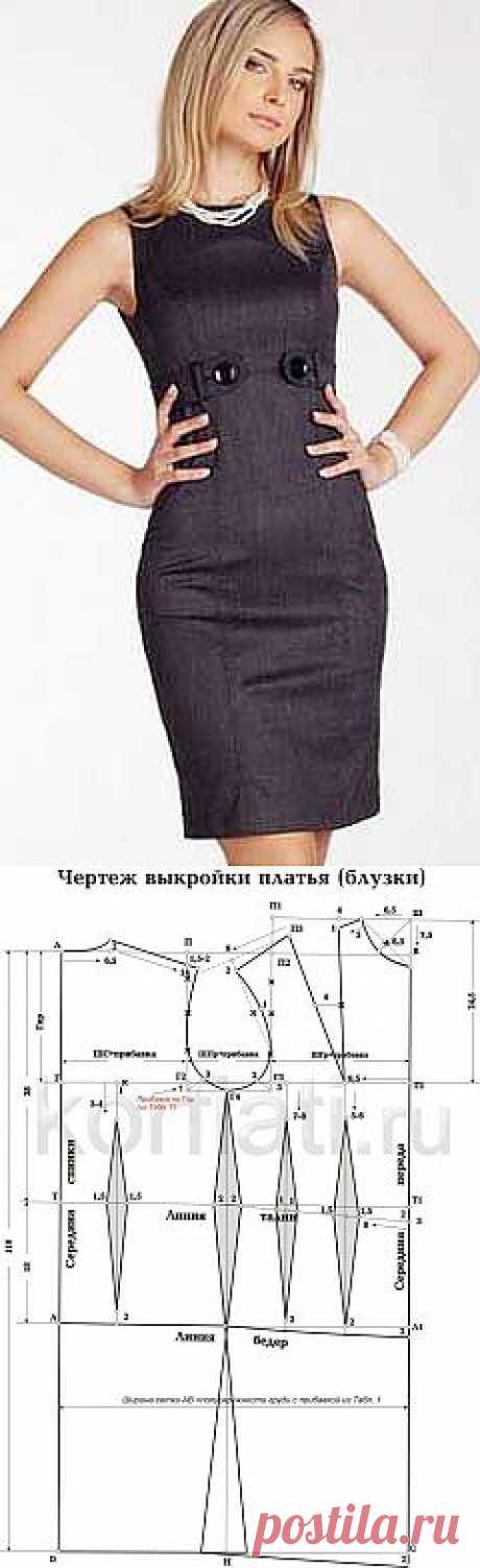 Выкройка-основа женского платья от ШКОЛЫ ШИТЬЯ Анастасии Корфиати