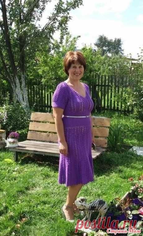 . Платье сиреневое крючком - Вязание - Страна Мам