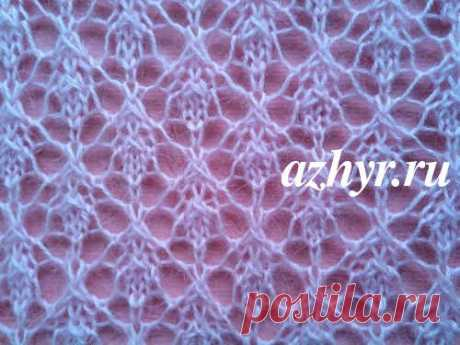 Gentle openwork pattern spokes from a mohair | Openwork
