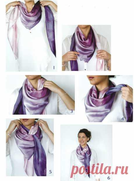 Как носить шарф, платок или палантин | Делимся советами