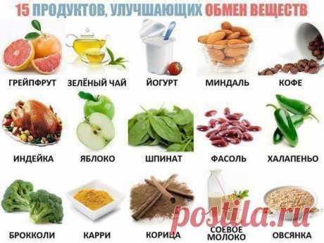 5 продуктов, улучшающих обмен веществ