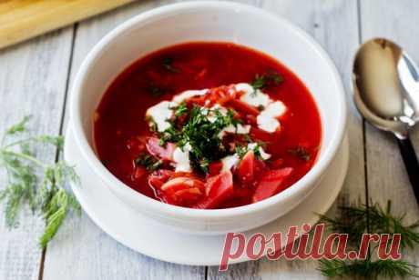 Борщ с помидорами рецепт – украинская кухня: основные блюда. «Еда»