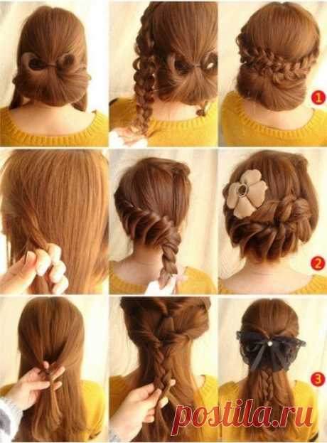 3 HAIRDRESSES FROM LONG HAIR