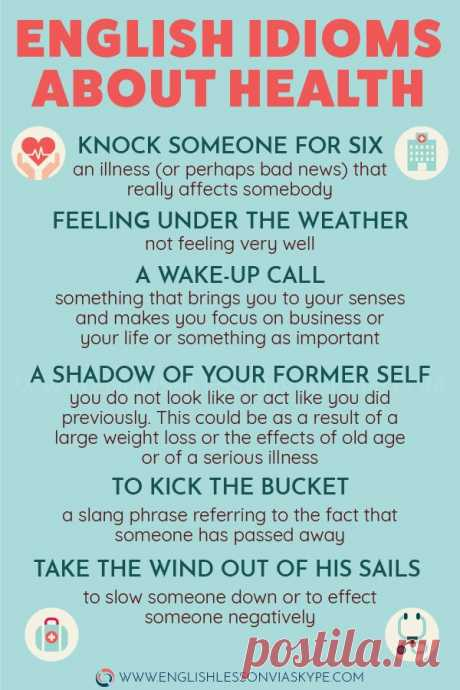 English idioms about health