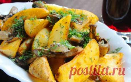 Запеченная картошка с грибами | Готовьте с нами