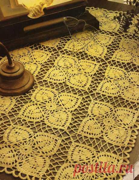 Прямоугольные скатерти крючком | Домашние зарисовки | Яндекс Дзен