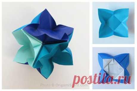 Origami instructions: How to make an IvaMia Kusudama