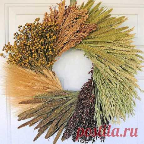 Колоски пшеницы — настоящая сокровищница стильных идей — HandMade