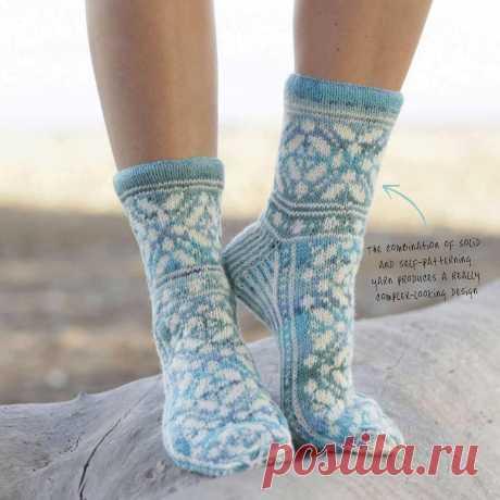 Держи ножки в тепле! Вязаный носочки с норвежским узором — HandMade